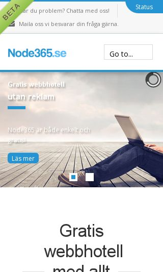 Mobile preview of node365.se