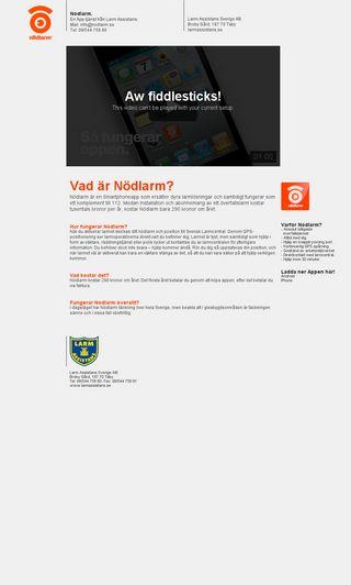 Mobile preview of nodlarm.se