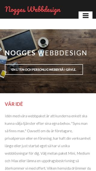 Mobile preview of nogge.se