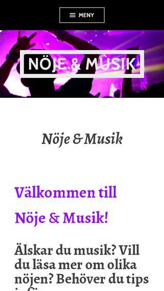 Mobile preview of noje-musik.se