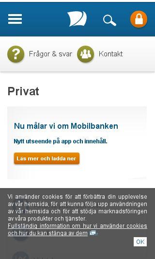 Mobile preview of nordea.se