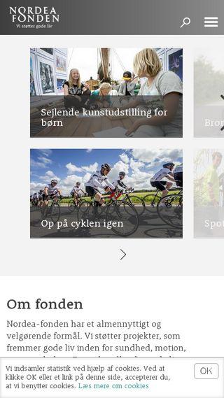 Mobile preview of nordeafonden.dk