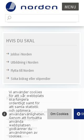 Mobile preview of norden.org