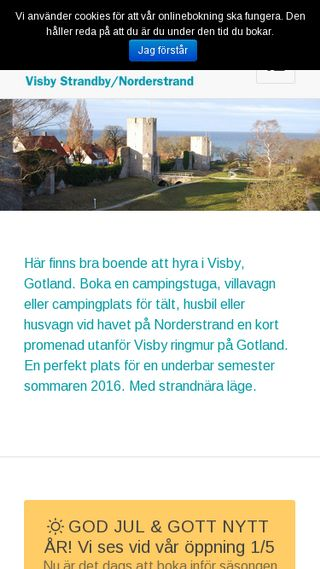 Mobile preview of norderstrandscamping.se