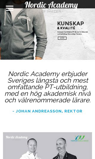 Mobile preview of nordicacademyofsweden.se
