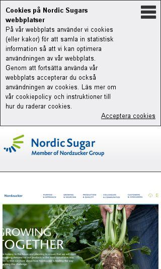 Mobile preview of nordicsugar.se