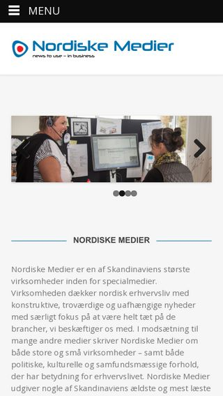 Mobile preview of nordiskemedier.dk