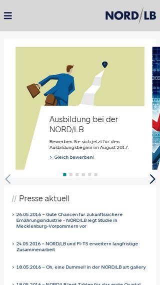 Mobile preview of nordlb.de