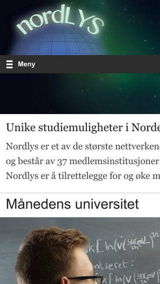 Mobile preview of nordlys.info