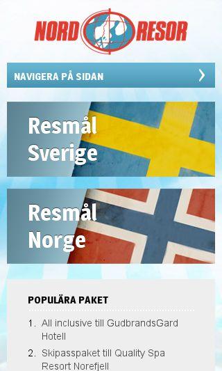 Mobile preview of nordresor.se