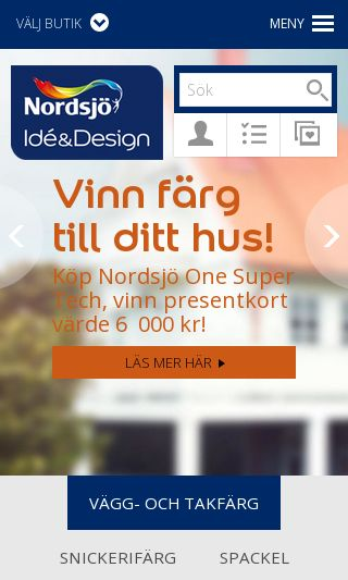 Mobile preview of nordsjoidedesign.se