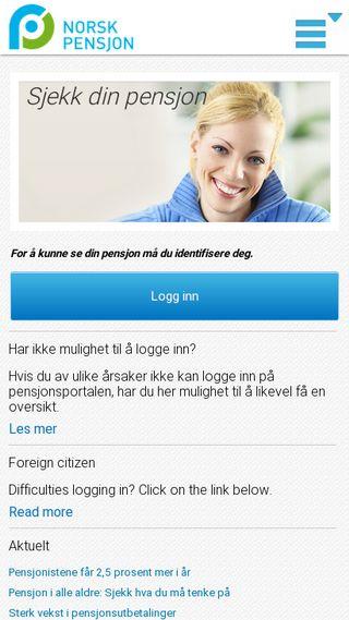 Mobile preview of norskpensjon.no