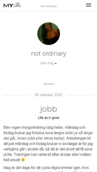 Mobile preview of notordinary.myshowroom.se