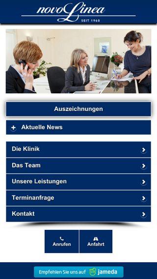 Mobile preview of novolinea.de