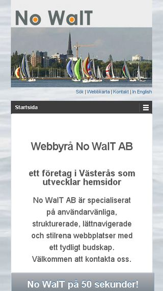 Mobile preview of nowait.se