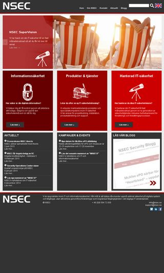 Mobile preview of nsec.se