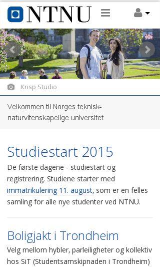 Mobile preview of ntnu.no