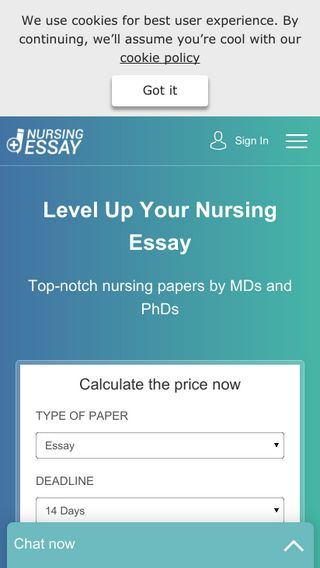 Mobile preview of nursingessaywriting.com