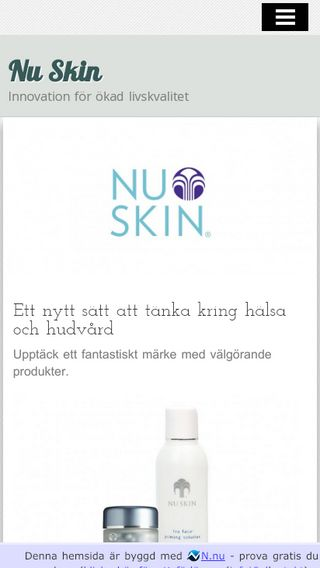 Mobile preview of nuskin.nu