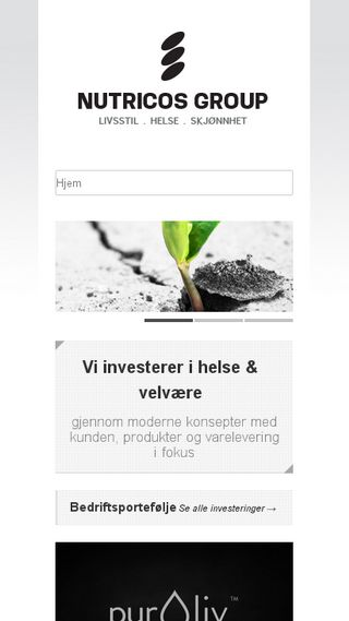 Mobile preview of nutricosgroup.no