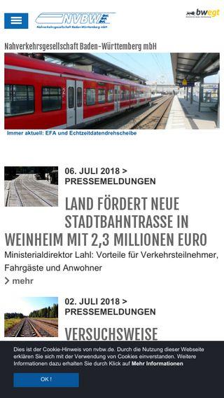 Mobile preview of nvbw.de