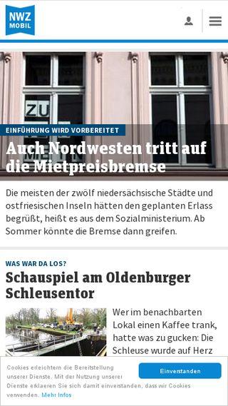 Mobile preview of nwzonline.de