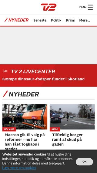 Mobile preview of nyheder.tv2.dk