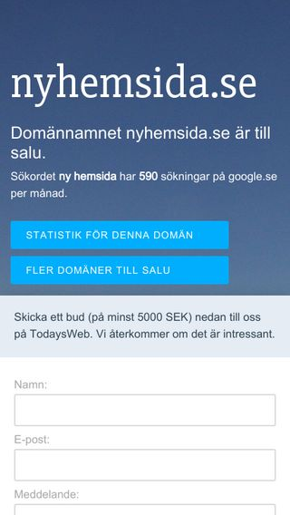 Mobile preview of nyhemsida.se