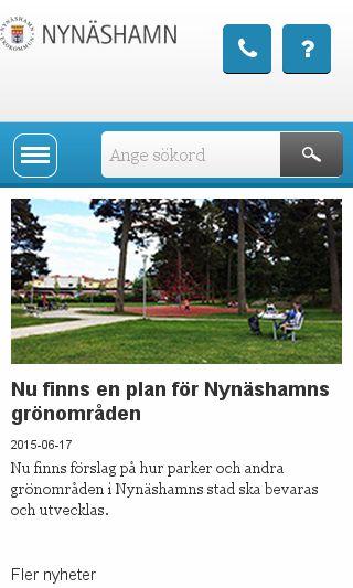Mobile preview of nynashamn.se