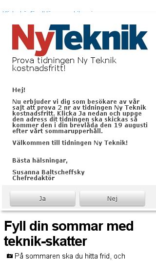 Mobile preview of nyteknik.se