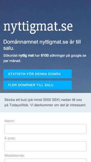 Mobile preview of nyttigmat.se