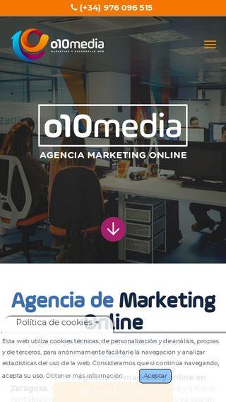 Mobile preview of o10media.es