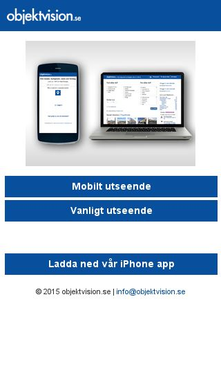 Mobile preview of objektvision.se