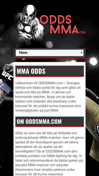 Mobile preview of oddsmma.com