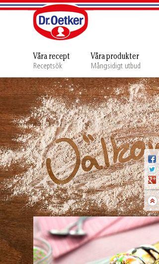 Mobile preview of oetker.se