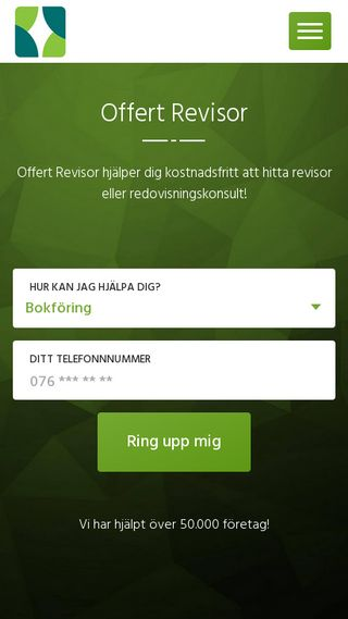 Mobile preview of offertrevisor.se