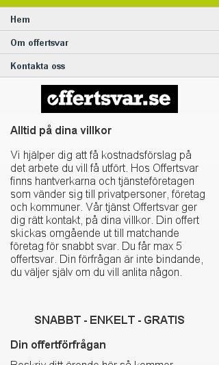 Mobile preview of offertsvar.se