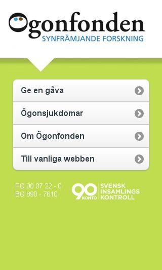 Mobile preview of ogonfonden.se
