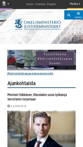 Mobile preview of oikeusministerio.fi