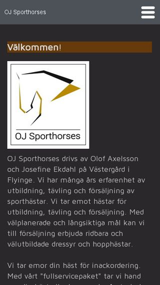 Mobile preview of ojsporthorses.se