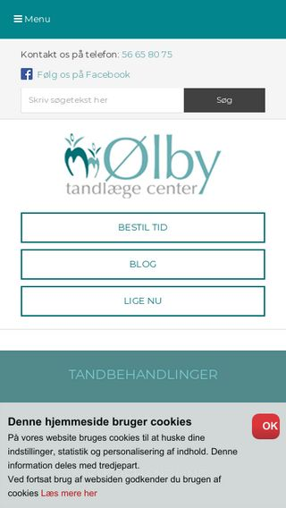 Mobile preview of olbytand.dk