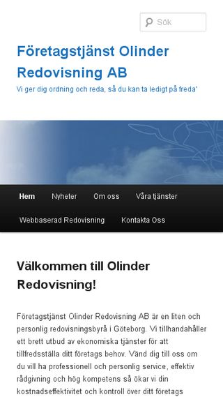 Mobile preview of olinderredovisning.se