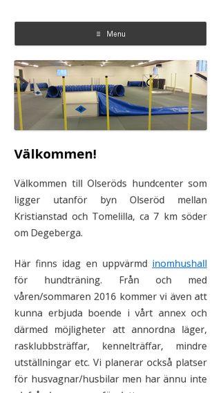Mobile preview of olserodshundcenter.se