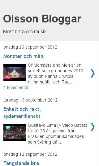 Mobile preview of olssonbloggar.se