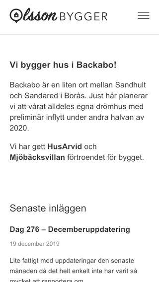 Mobile preview of olssonbygger.se