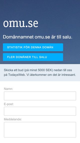 Mobile preview of omu.se
