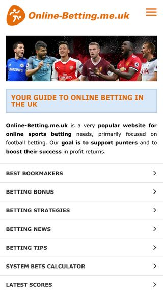 Mobile preview of online-betting.me.uk