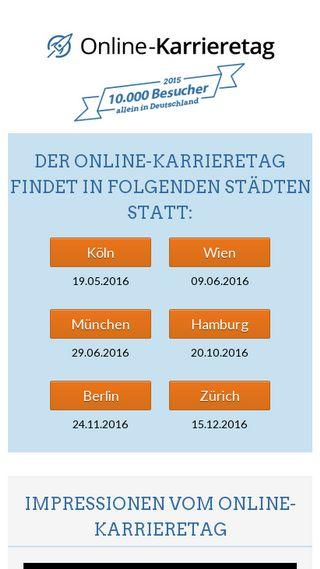 Mobile preview of online-karrieretag.de