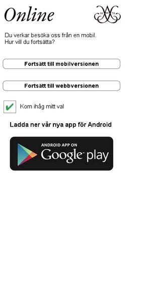 Mobile preview of online.auktionsverket.se