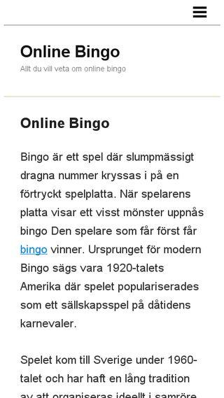 Mobile preview of onlinebingo.n.nu
